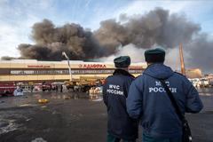 Пожар в ТЦ в Казани