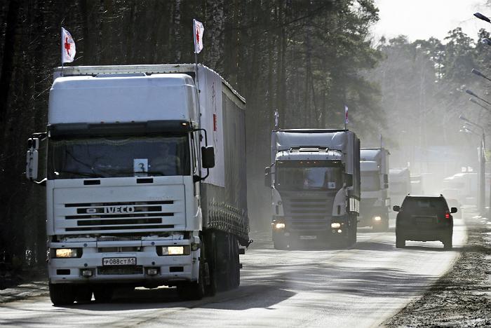 Внеочередные колонны МЧС России доставили гумпомощь в Донбасс