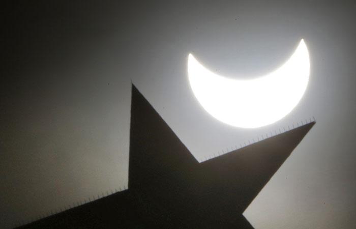 В России завершилось солнечное затмение