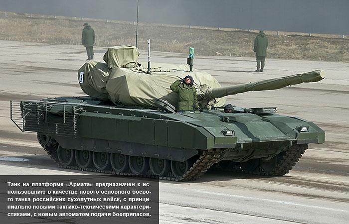 """Минобороны России """"рассекретило"""" облик нового танка """"Армата"""""""