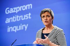 """Маргрете Вестагер объяснила суть направленных """"Газпрому"""" претензий"""