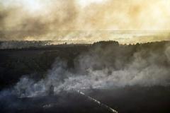 Пожар в зоне отчуждения Чернобыльской АЭС локализован