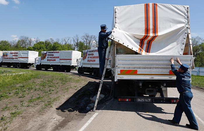 Украинские пограничники выявили нарушения при въезде российского гумконвоя