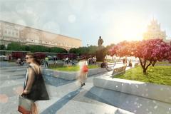 Реконструкция Триумфальной площади в Москве завершится ко Дню города