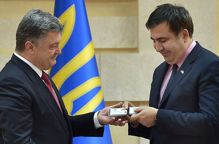 Saakashvili is officially appointed by the Odessa governor