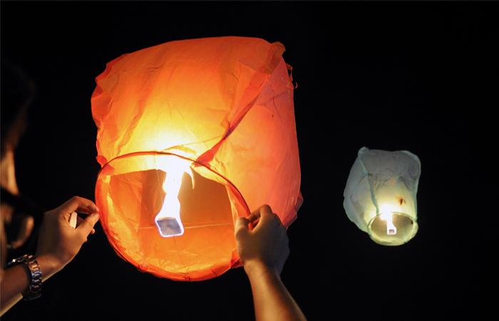 Небесные фонарики - Фейерверк купить фейерверки в