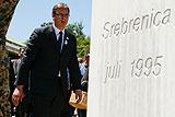 Сербская делегация подверглась нападению на памятной церемонии в Сребренице