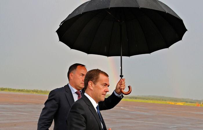 Медведев прибыл на Итуруп