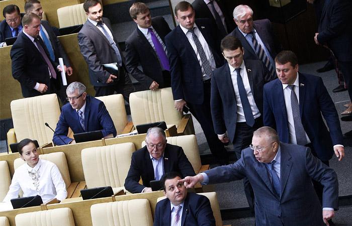 Фракция ЛДПР в Госдуме устроила демарш