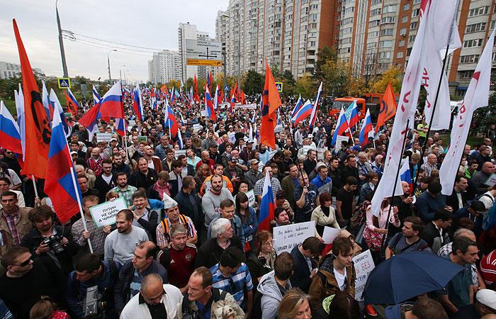 Митинг оппозиции собрал в Марьино не более 500 человек