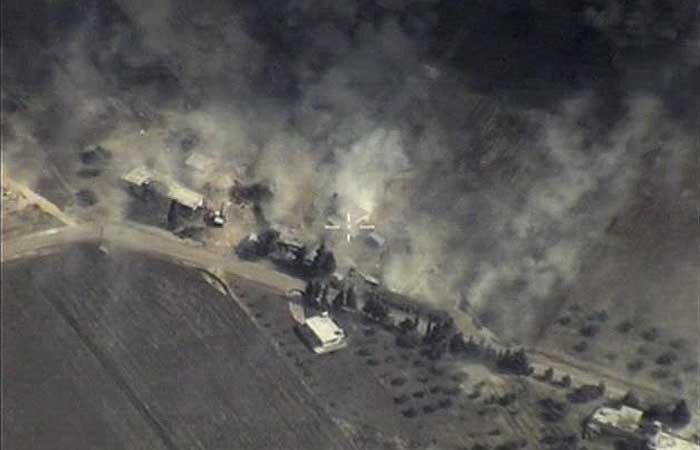 Минобороны РФ показало новые кадры бомбардировок позиций ИГ в Сирии