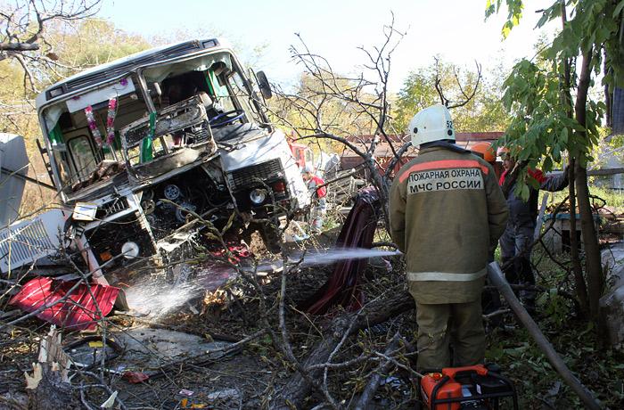 Причиной ДТП со школьным автобусом под Хабаровском назвали отказ тормозов