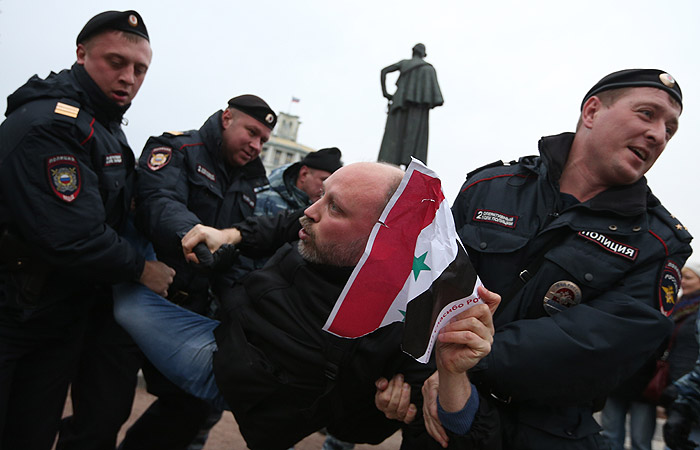 В центре Москвы прошел антивоенный митинг