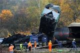 В Чехии столкнулись два товарных поезда