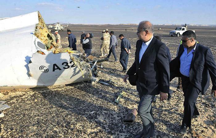 Спасатели расширят зону поисков в районе крушения А321 на Синае
