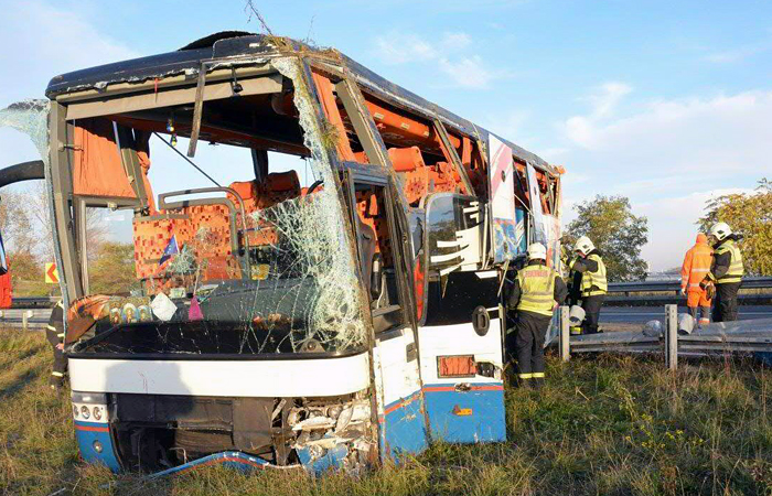 Автобус с украинцами попал в ДТП под Веной