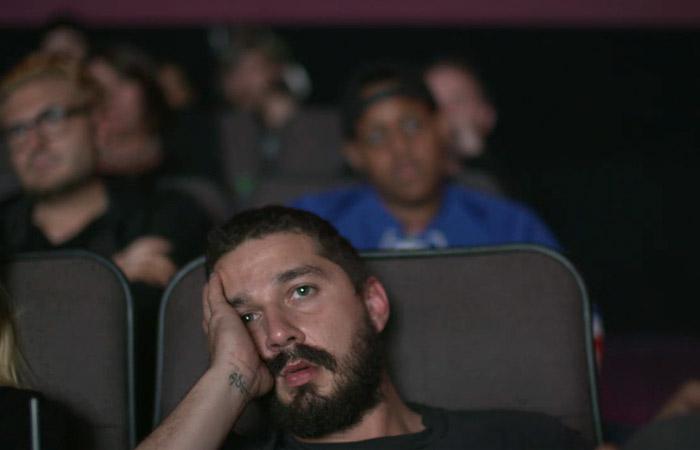 Шайа ЛаБаф в рамках перформанса будет три дня смотреть все ... шайа лабаф все фильмы