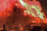 На территории ТМЗ в Москве загорелись помещения с бытовой химией