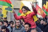 Около 15 тысяч курдов в Дюссельдорфе вышли протестовать против политики Турции