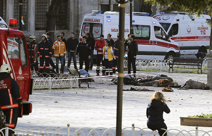 Жертвами взрыва в Стамбуле стали 10 человек