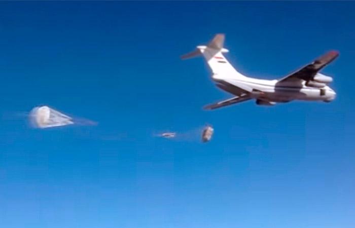 Жителям Сирии при помощи российских ВКС доставили более 40 тонн гумпомощи