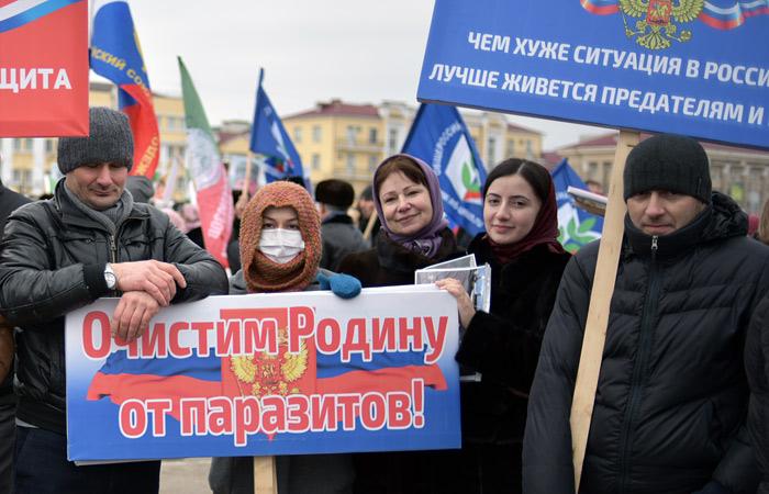 """""""Грозный ТВ"""" насчитала миллион человек на митинге в поддержку Кадырова"""