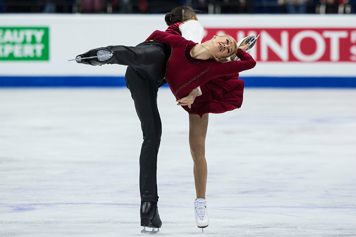 Татьяна Волосожар иМаксим Траньков выиграли короткую программу чемпионата Европы
