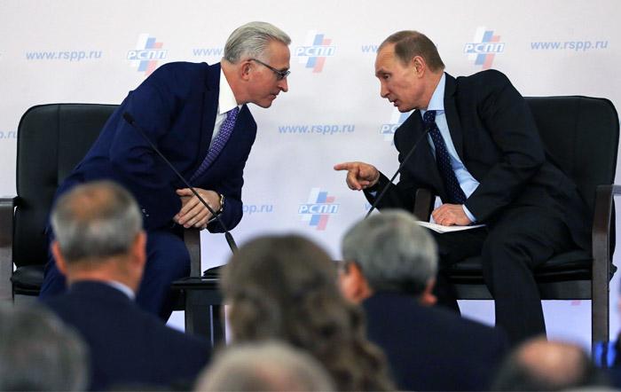 Путин и глава РСПП Шохин обсудили волнующие предпринимателей вопросы