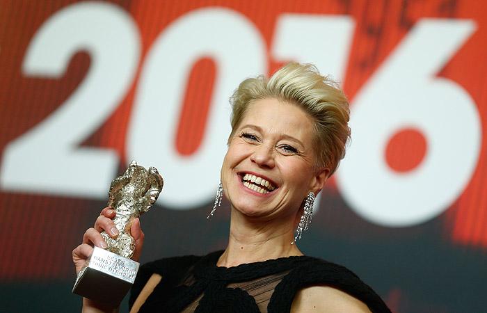 Датская актриса Тирне Дирхольм, получившая приз за лучшую женскую роль