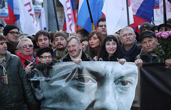 Марш в память о Немцове в Москве закончился без происшествий