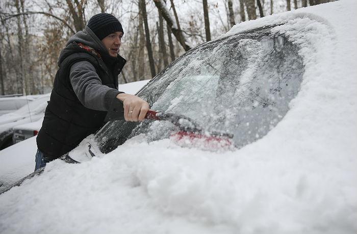 Высота снежного покрова в Москве достигла 14 см