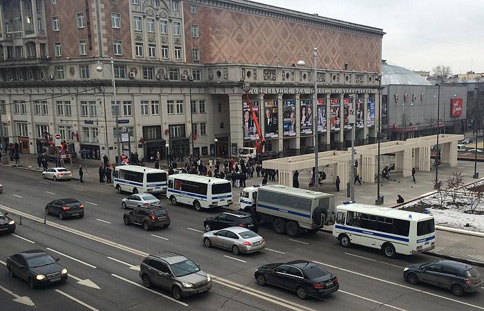 В Москве задержаны более 30 участников несанкционированной акции