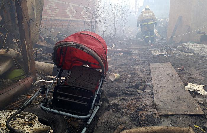В цыганском поселке под Тулой сгорели несколько домов