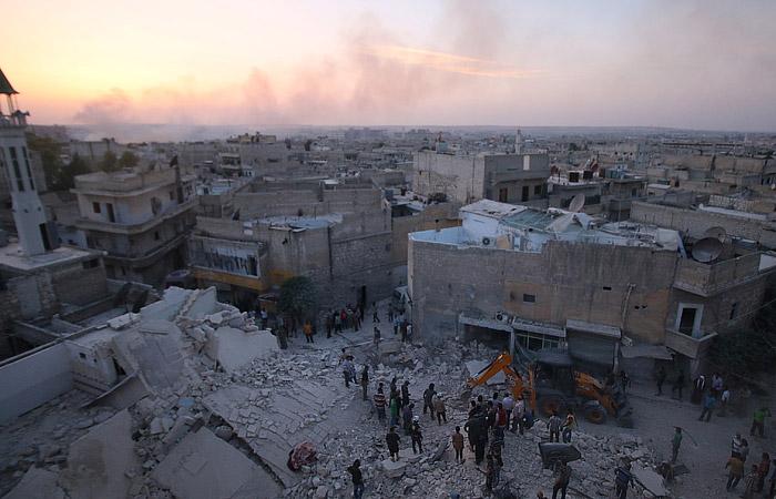 Боевики нанесли массированный артиллерийский удар по Алеппо