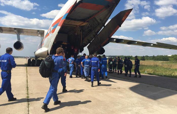 Специалисты МЧС определили возможное место падения Ил-76