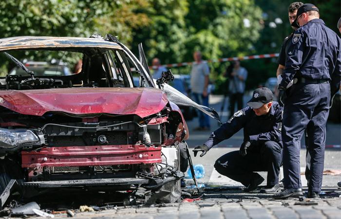Автомобиль Шеремета взорван самодельной бомбой