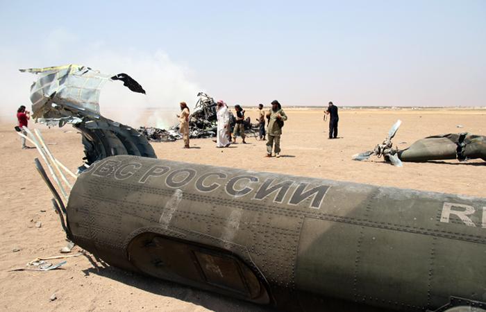 Сирийская группировка заявила о захвате тел погибших в сбитом Ми-8