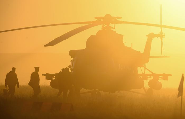 В РФ  военный вертолет попал в трагедию