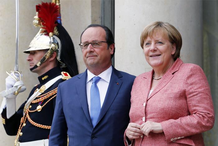 Меркель иОлланд сообщили онамерении продолжать работу в«нормандском формате»