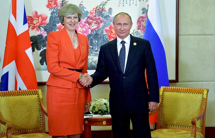 Песков сообщил детали встречи Путина с новым британским премьером
