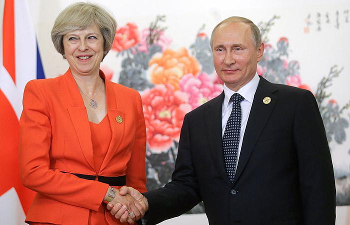 Путин впервые встретился с Мэй после ее вступления в должность премьера