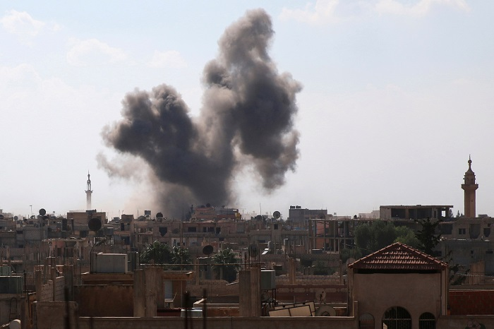Боевики изминометов сутки обстреливали Алеппо итри провинции вСирии