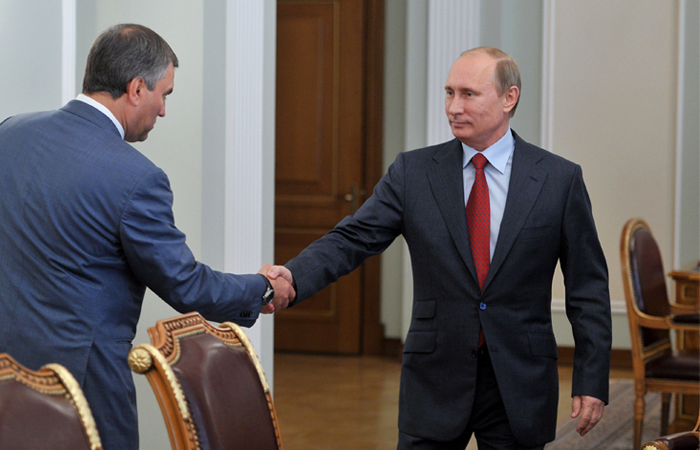 Путин поддержал кандидатуру Володина на пост председателя Госдумы