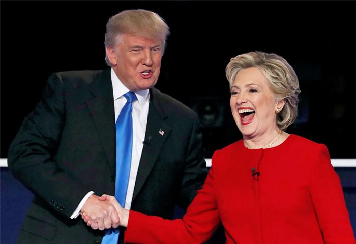 Клинтон победила на первых дебатах с Трампом