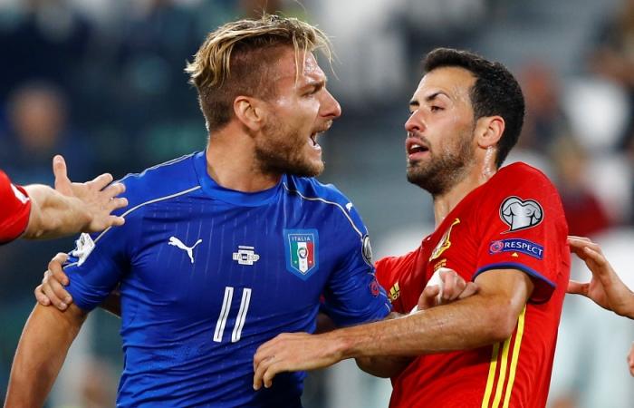Сборные Италии иИспании сыграли вничью— Битва гигантов