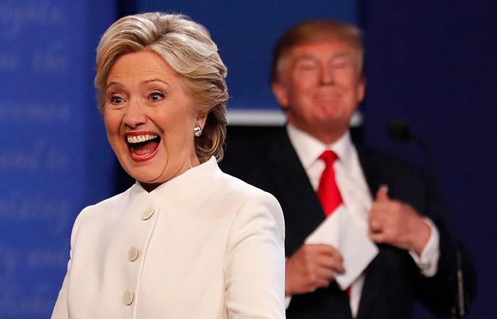 Опрос показал опережение Клинтон Трампа на 12%