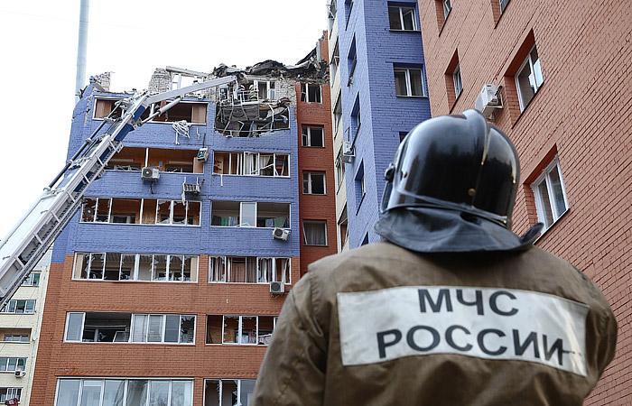В Рязани при взрыве газа в жилом доме полностью разрушены три квартиры
