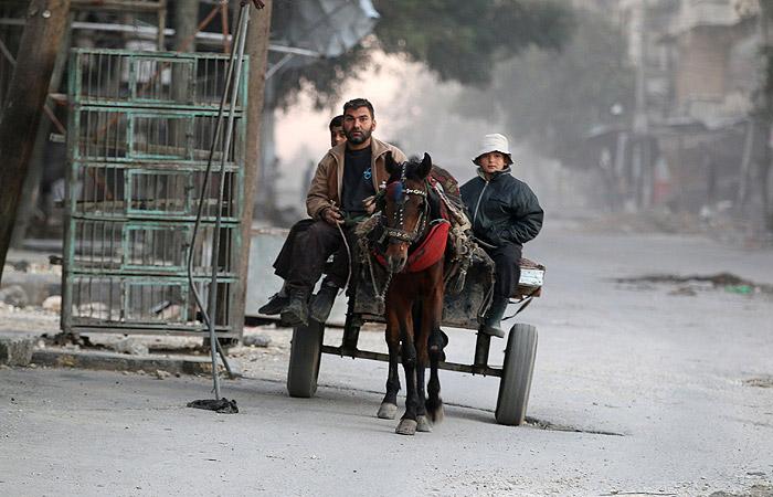 В сирийском Алеппо началась 10-часовая гуманитарная пауза