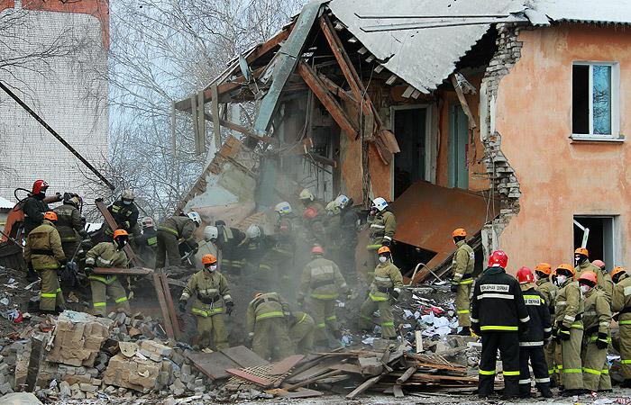 Работы на месте взрыва