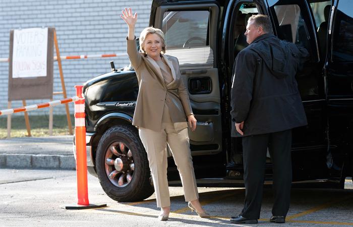 Х.Клинтон отдала голос вНью-Йорке